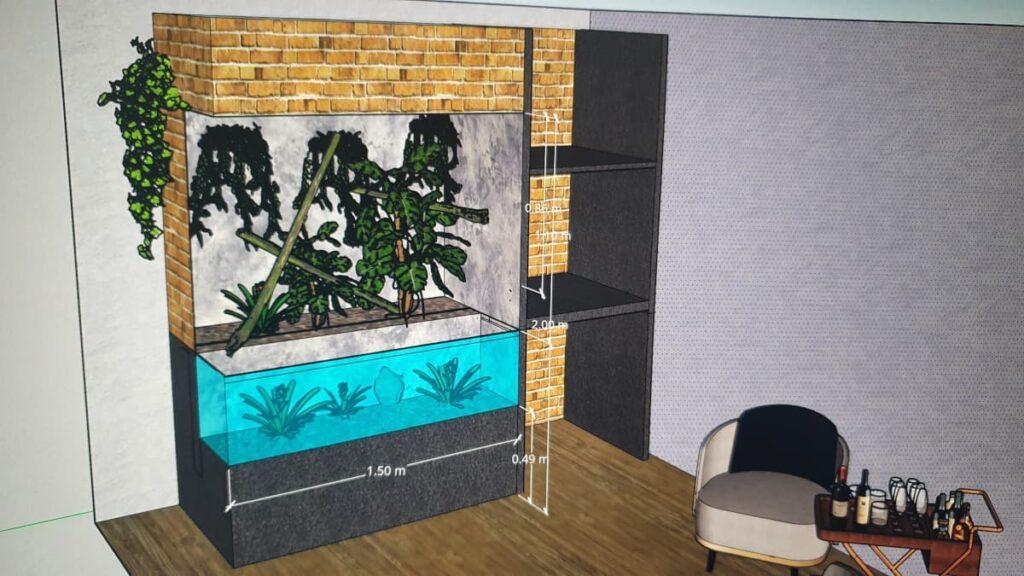 CAD-Planung eines Paludariums