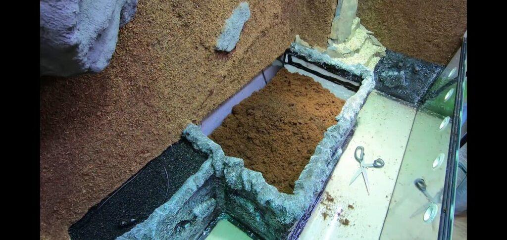 Aufbau Terrarium-Bodenteil: Bodengrund